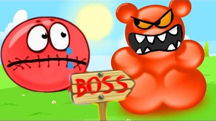 КРАСНЫЙ ШАР ПРОТИВ БУРГЕРОВ - мультик игра для детей приключения красного шарика. Red Ball 4 carton