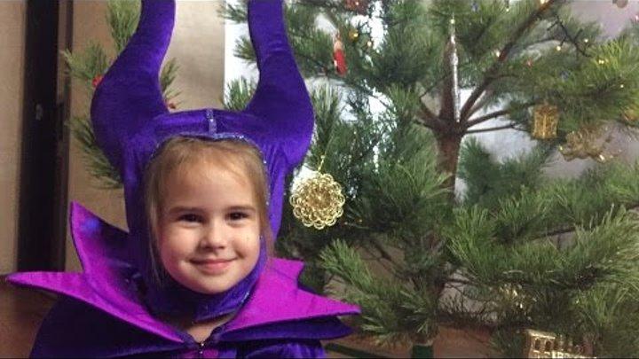 Малифисента Алина в костюмах ПРИНЦЕСС ДИСНЕЯ Disney Princess costume Новый год Malificent