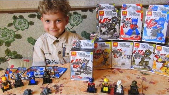 Видеообзор конструктора китайского аналога Лего Трансформеры analog Lego Lele #Transformers