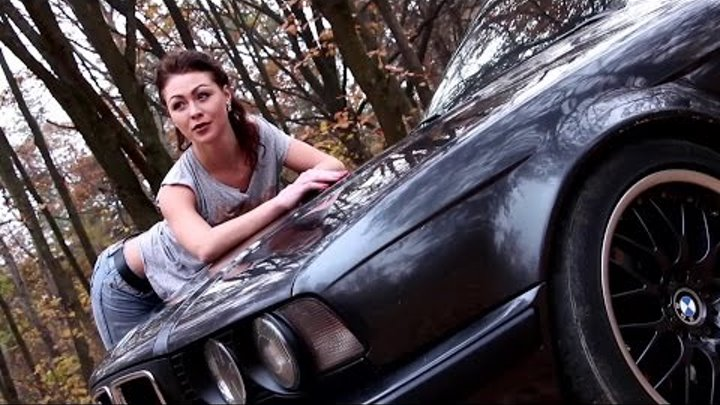 "Photo project ""Girls and Cars"" BMW E34 (Backstage)"