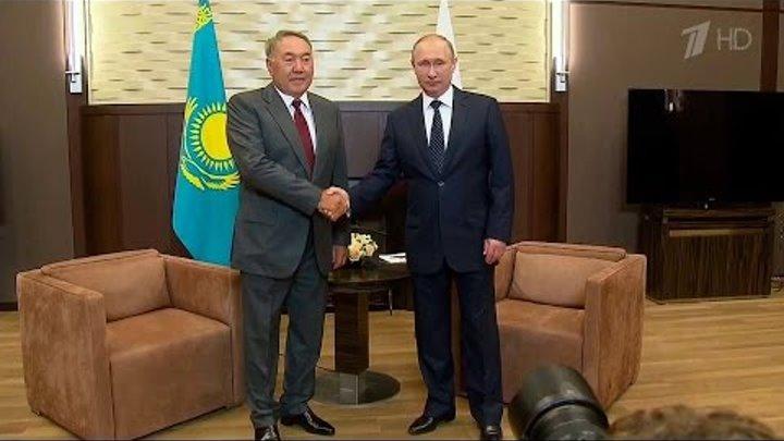 Развитие сотрудничества России и Казахстана обсудили сегодня президенты двух стран.