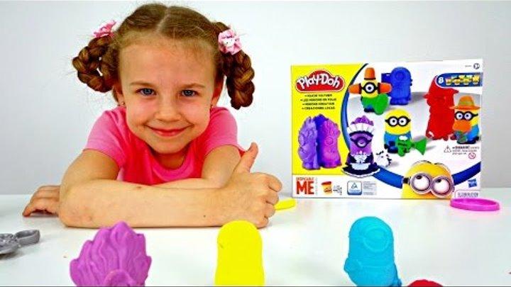 МИНЬОНЫ. Пластилин и игры для детей. Как слепить из пластилина Миньоны. Видео для детей.