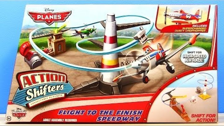 Disney Planes Flight To The Finish Speedway 2014 Action Shifters Mattel Race Play-Set