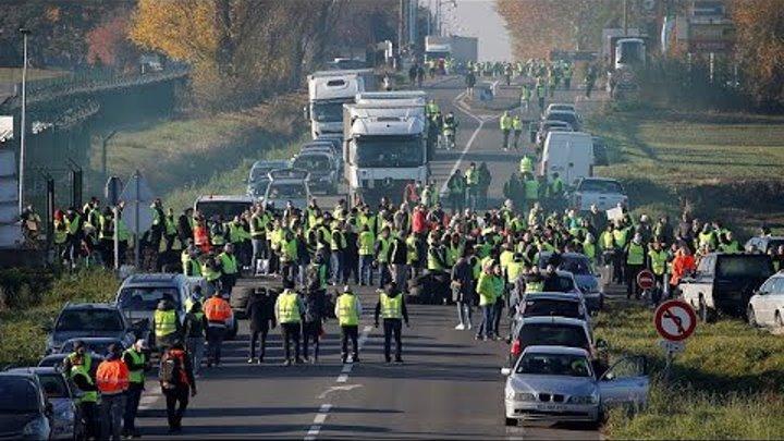Video | Fransa'da akaryakıt zammına dev protesto: 2 bin noktada 283 bin eylemci