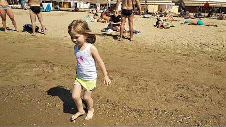 Анапа. Погода 21 мая. В море купаются даже дети. Мы открыли купальный сезон. Отдых в Анапе.