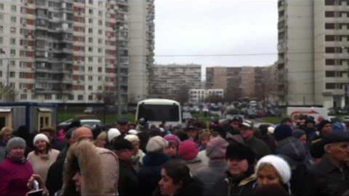 Новокосино: акция протеста жителей против стройки