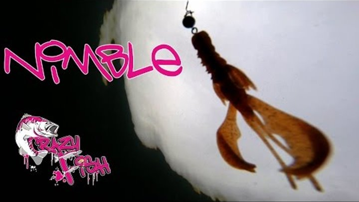 Новинки 2016!!! Приманки под водой. Crazy Fish. Nimble. Underwater.