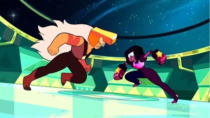Битва Гранат и Яшма (Вселенная Стивена) / Fight Garnet and Jasper (Steven Universe) + rus sub