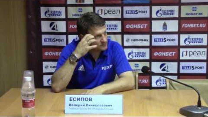 2 тур. Валерий Есипов о матче Ротор-Волгоград - Волгарь