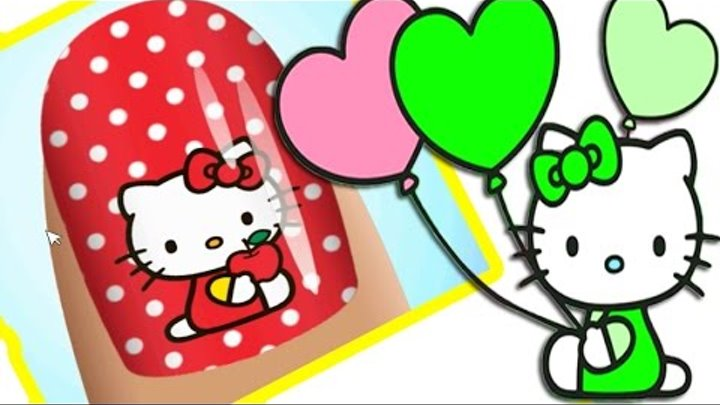 Хеллоу китти Мультик игра видео для детей. Маникюрный салон Китти[1]. Hello Kitty