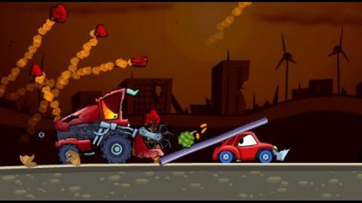 Мультик ИГРА для детей про МАШИНКИ МАШИНА ест МАШИНУ 2 Cartoon game for kids about cars