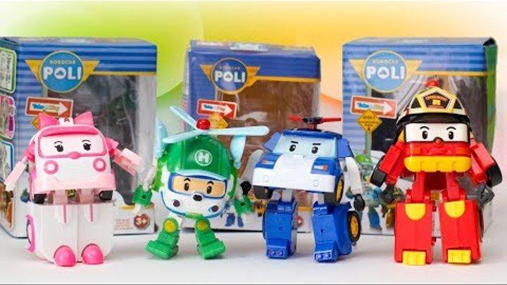 Распаковка игрушек Робокар Поли Трансформер Развивающие мультики для детей про машинки Unboxing