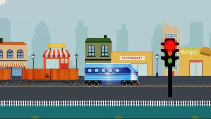 ПАРОВОЗИКИ МУЛЬТИКИ ПЕРЕВОЗИМ ГРУЗЫ НА ПОЕЗДЕ И КОРАБЛЕ Развивающий мультфильм про поезд и кораблик