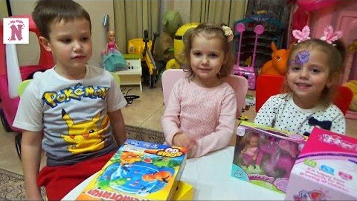 Встреча с Мисс Кейти и Мистер Макс Открываем косметический набор Игру Голодные бегемотики