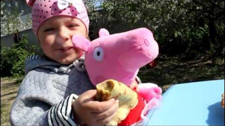 СВИНКА ПЕППА и волшебный апельсин заколдовал ее Готовим блины СКАЗКА для детей PEPPA PIG