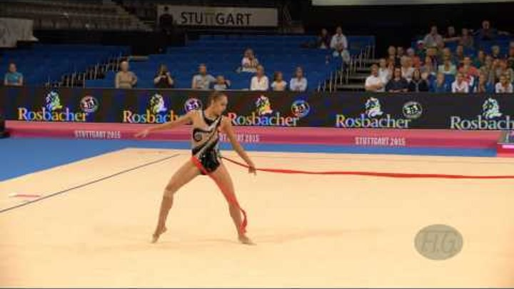 Margarita MAMUN (RUS) 2015 Rhythmic Worlds Stuttgart - Qualifications Ribbon