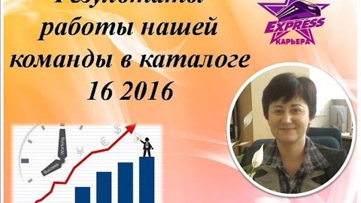Результаты работы в каталоге 16 2016 ПГ Радионенко Оксаны