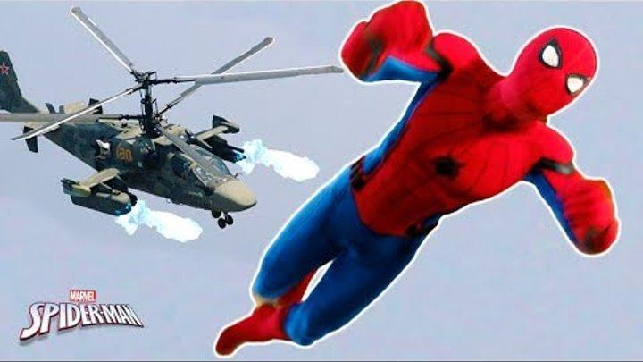 Человек паук битва на ВЕРТОЛЕТЕ! Прохождения игры Marvel's Spider Man ps4 #13