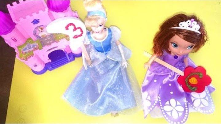 Видео для детей: ЗОЛУШКА и София Прекрасная! Фигурки из мастики. Конфеты своими руками.