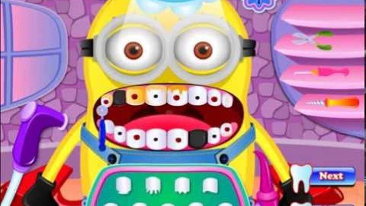 Миньоны Игры—Гадкий Я у Стоматолога—Мультик Онлайн Видео Игры Для Детей 2015 Minions