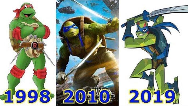 Эволюция Черепашек-ниндзя в кино и мультфильмах