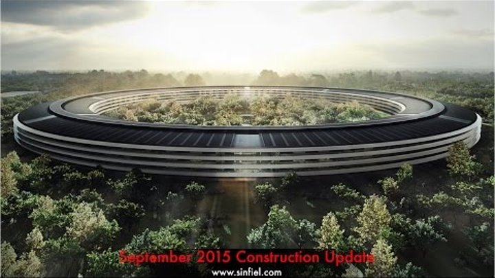 Apple Campus 2 Construction Update - September 1, 2015
