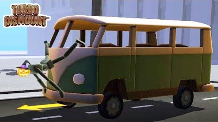 Turbo Dismount #1 Веселая игра краш тест как мультик для детей про машинки, трюки и аварии