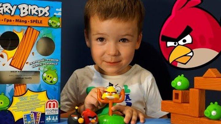 Игрушки Энгри Бёрдс на русском языке. Angry Birds Toys Mattel. Игра Энгри Бёрдс.