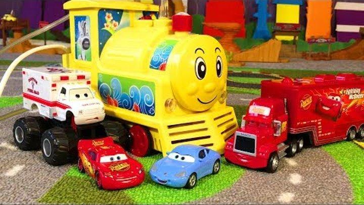 Мультики про Машинки Тачки 3 Молния Маквин Доктор Паровозик Cars 3 Lightning McQueen