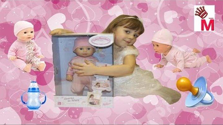 Живая кукла ребенок Baby Annabell Zapf Creation ползает ходит плачет вредничает обзор и распаковка