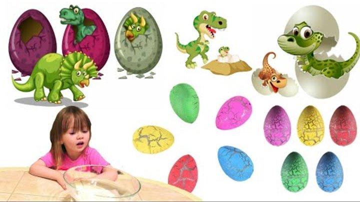 Игрушки, растущие в воде. динозавры из яйца.Что же вылупится из Яиц ???? Опускаем в воду и ждем!!