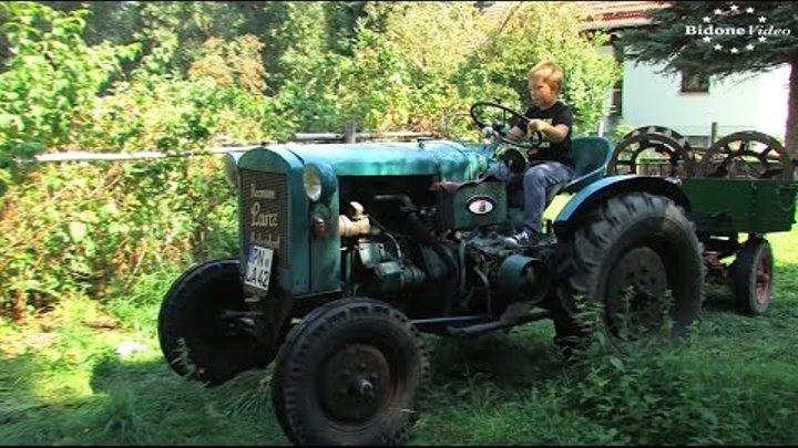 Hermann Lanz Aulendorf Traktor - old Tractor start and run