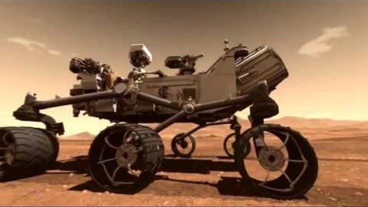 Полное видео посадки марсохода Кьюриосити на Марс