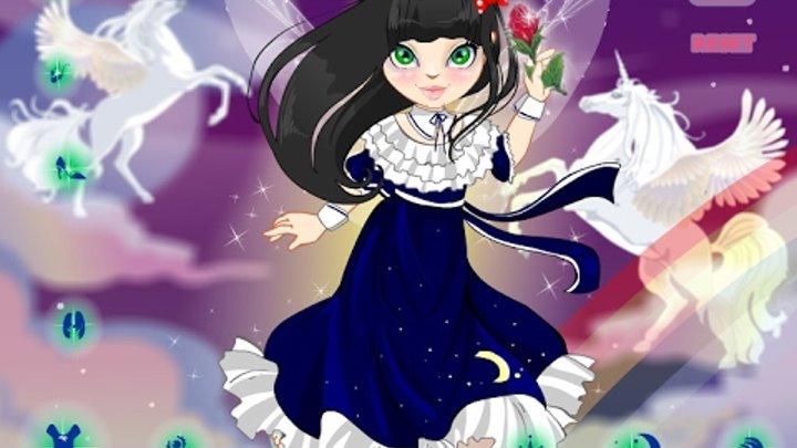 NEW мультики для девочек про принцесс—Одеваем фею—Игры для детей Sparkle Dancer