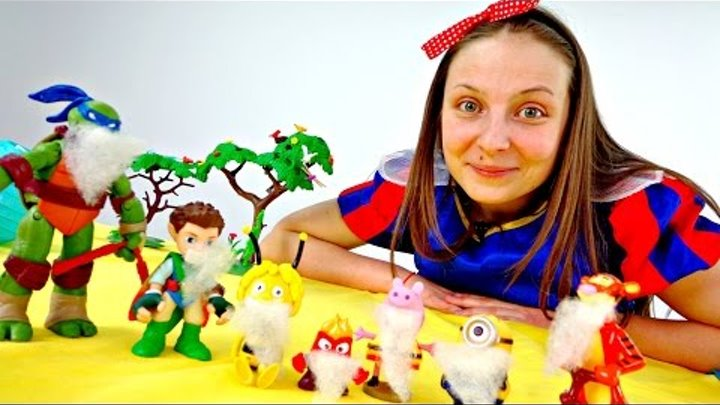 Развивающее видео для детей в СТИХАХ. Учим дни недели. Белоснежка и 7 подставных гномов.