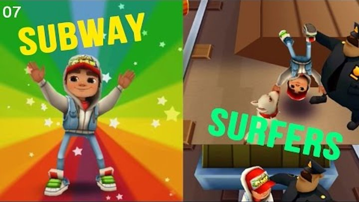 Увлекательное видео для детей Subway Surfers #007 Максим играет в Детские игры новые мультики детей