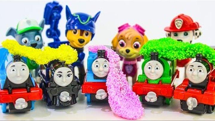 Щенячий патруль новые серии Развивающие мультики про паровозик и машинки Игрушки Томас и его друзья