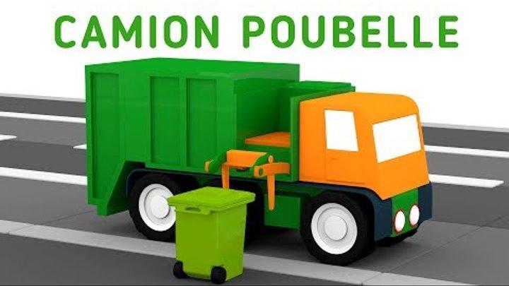 Dessin Animé En 3d Pour Enfants Quatre Voitures Colorées Camion Poubelle