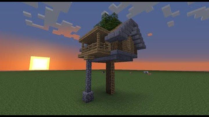 майнкрафт дом на дереве