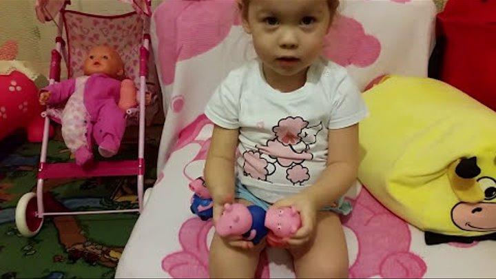 Свинка пеппа игрушки раскраски принцесса софия .Peppa Pig. детский канал .Даша