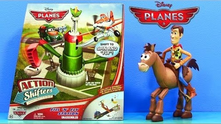 2014 Disney Planes Fill 'N' Fly Station Action Shifters Mattel Race Play-Set