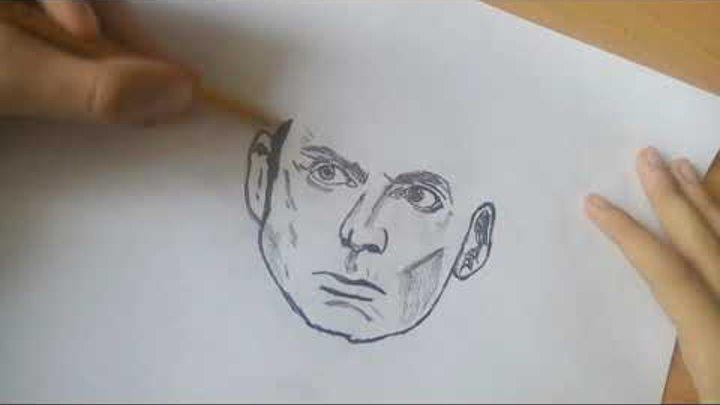 Рисунок карандашом - Доктор кто - Дэвид Теннант (Doctor Who)