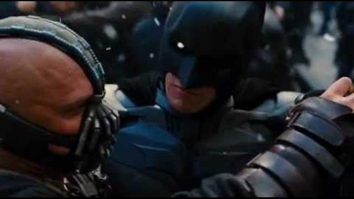 The Dark Knight Rises Batman vs Bane (Бэтмэн против Бэйна)