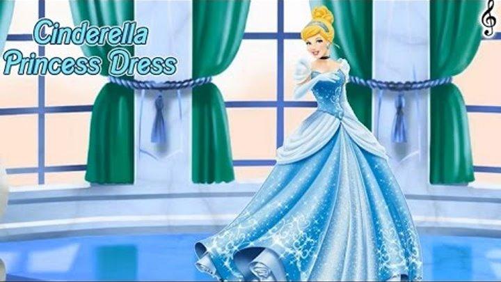 NEW Игры для детей—Disney Принцесса Золушка платье на бал—Мультик Онлайн Видео Игры для девочек
