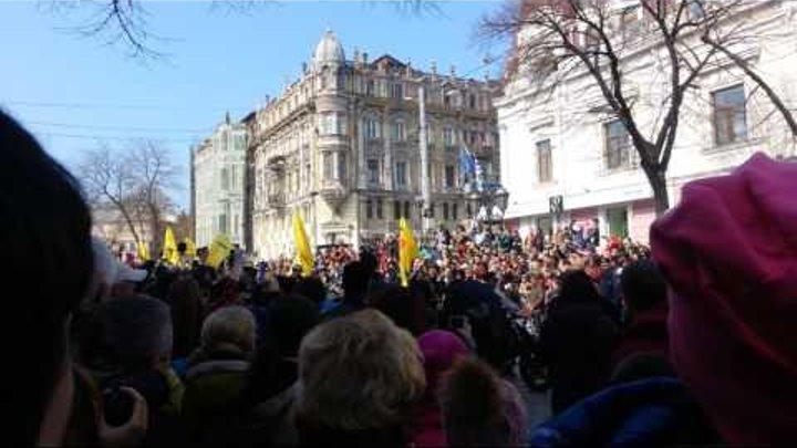 Одесса, 1-е апреля, парад на Дерибасовской! 2 часть!