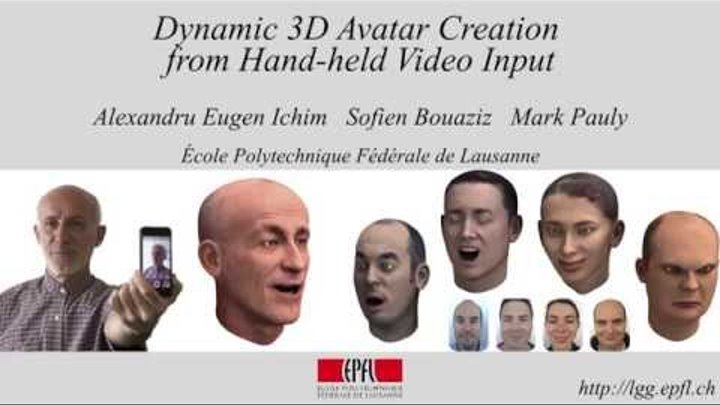 Dynamic 3D Avatar Creation from Hand-held Video Input (SIGGRAPH 2015)