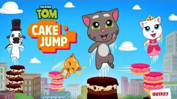 Говорящий Том вкусная башня НОВАЯ игра Говорящий Том и Друзья делают самый высокий торт в мире