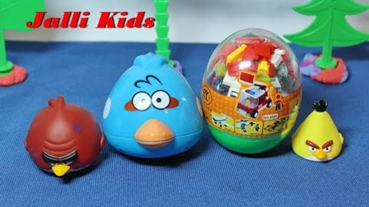 Сказка про энгри бердс и яйцо с сюрпризом Ingres berds angry birds, eggs surprises videos
