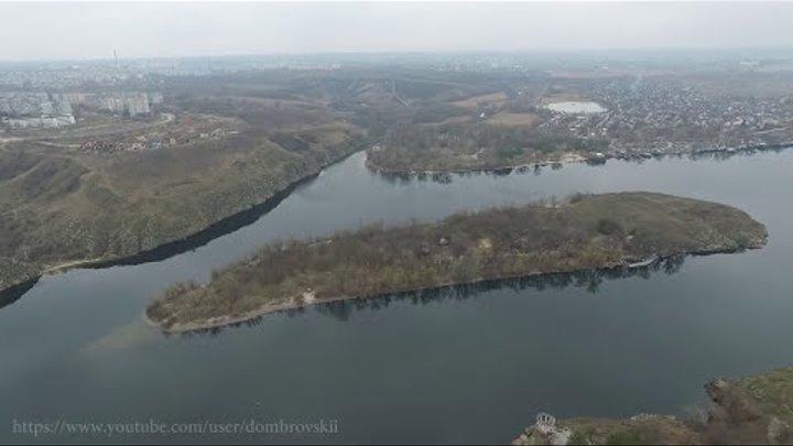 Шукач Остров Байда или Малая Хортица, Запорожье, Украина резка 1