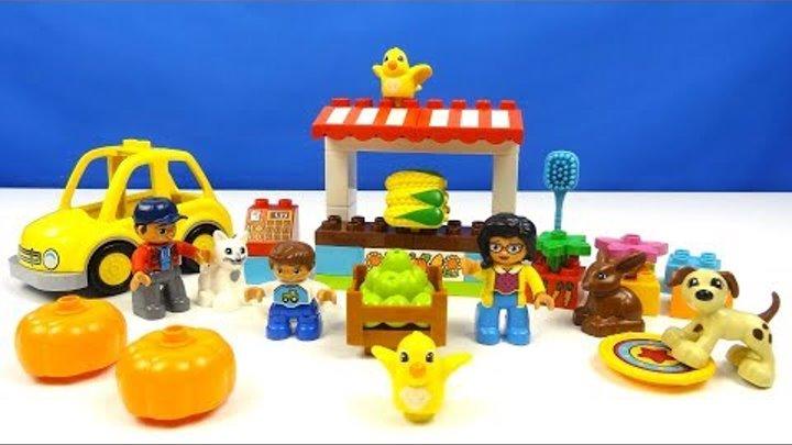 Строим из Lego Duplo LEGO DUPLO 10838 Family Pets, LEGO DUPLO 10867 Farmers' Market фермерский рынок